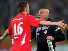 Dominick Drexler, Coach Stefan Emmerling (beide FC Rot-Weiß Erfurt)