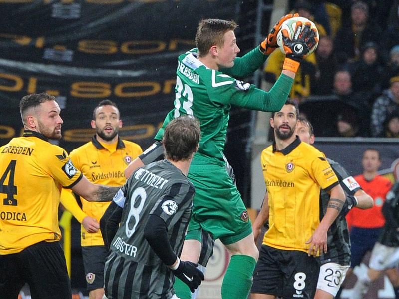 Markus Schubert dynamo dresden preußen münster 0 0 3 liga saison 2015 16 18