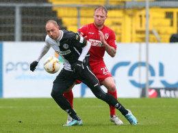 Zweikampf zwischen Matthias Morys und Thomas Hübener