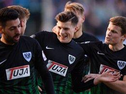 Münster holt wichtige drei Punkte gegen Rostock