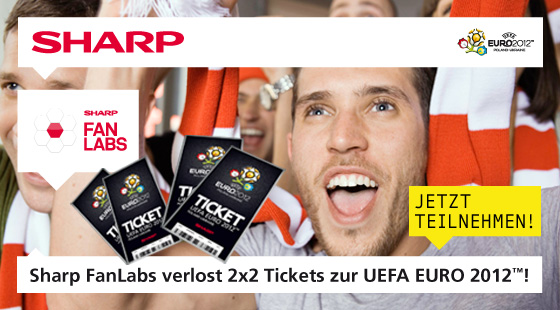 Sharp FanLabs verlost 2x2 Tickets zur UEFA EURO 2012