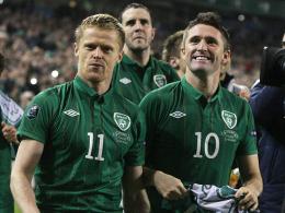 Vorfreude auf die EM: Die irischen Nationalspieler Damian Duff (li.) und Robbie Keane.