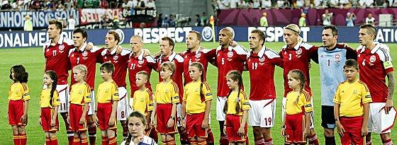 Knapp gescheitert: Dänemarks Nationalelf muss nach der Vorrunde die Koffer packen.