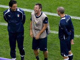Gigi Buffon, Antonio Cassano und Giorgio Chiellini
