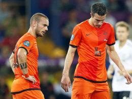 Wesley Sneijder (li.) und Robin van Persie