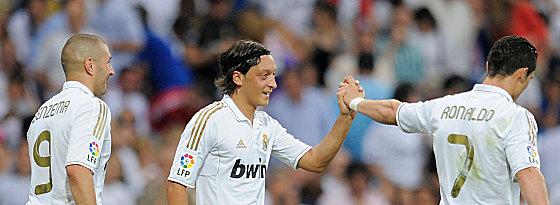 Benzema, Özil und Ronaldo