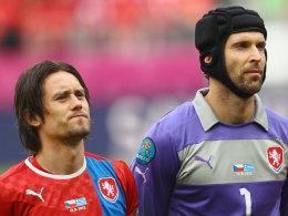 Tomas Rosicky (li.) und Petr Cech