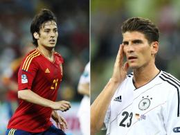 Der eine trifft besser, der andere legt gern auf: Mario Gomez und David Silva sammelten bislang jeweils vier Punkte.