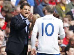 Kommunikationsprobleme: Englands ehemaliger Teammanager Fabio Capello und Stürmer Wayne Rooney.