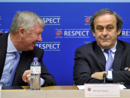 Alex Ferguson und Michel Platini