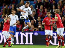 Obenauf: Italiens Daniele De Rossi im Spiel gegen Norwegen.