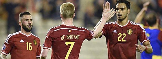 Kevin de Bruyne und Nacer Chadli