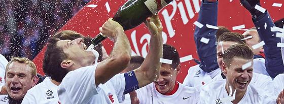 Die Freude nach geschaffter Qualifikation für die EM bei Robert Lewandowski & Co. war natürlich groß.