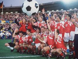 Finalpleite: In Schweden feierte Dänemark 1992 seinen EM-Coup gegen Deutschland.