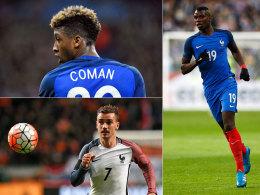 Coman, Griezmann, Pogba - kein Gedanke an Ribery