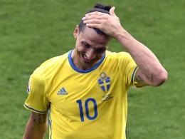 Noch kein Torschuss: Ibrahimovic bedient