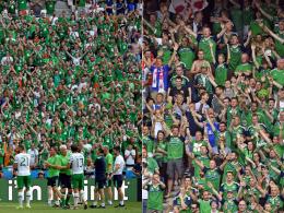Die Fans von Irland (li.) und Nordirland wurden ihres besonders fairen Verhaltens ausgezeichnet.