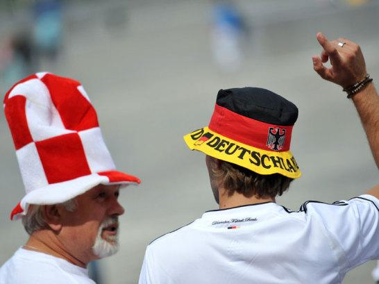 Polnischer und deutscher Fan