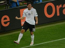 Gomez bejubelt seinen 1:0-Siegtreffer