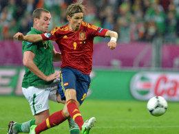 Torres enteilt Dunne und netzt ein
