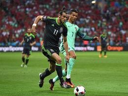 CR7 und Nani schie�en Portugal ins Finale