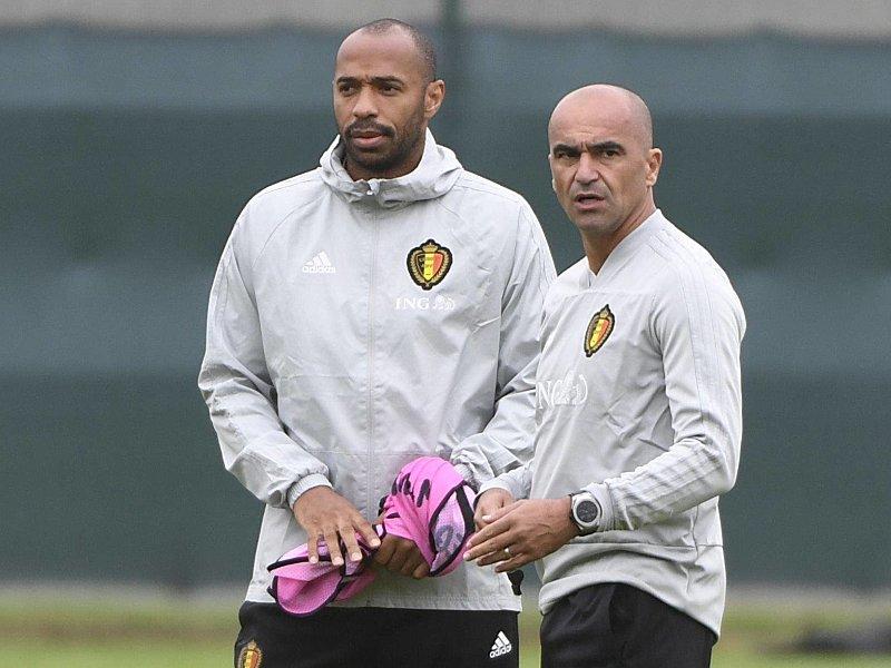 Thierry Henry und Roberto Martinez