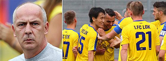 Unter den Augen eines Ex-Nationalspielers: Mario Basler kümmert sich um die sportlichen Belange bei Lok Leipzig.
