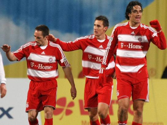 Frank Ribery, Miro Klose, Luca Toni
