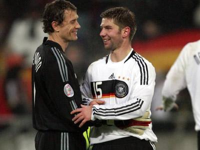 Künftig Mannschaftskameraden in der Bundesliga: Jens Lehmann und Thomas Hitzlsperger.