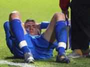 Fußball, Bundesliga: Bei Hoffenheims Torjäger Vedad Ibisevic besteht der Verdacht auf Kreuzbandanriss.