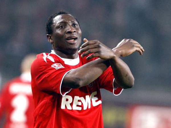 Keine Dynamik, kein Durchsetzungsvermögen: 1. FC Kölns Angreifer Manasseh Ishiaku.