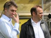 Die HSV-Bosse Dietmar Beiersdorfer (li.) und Bernd Hoffmann