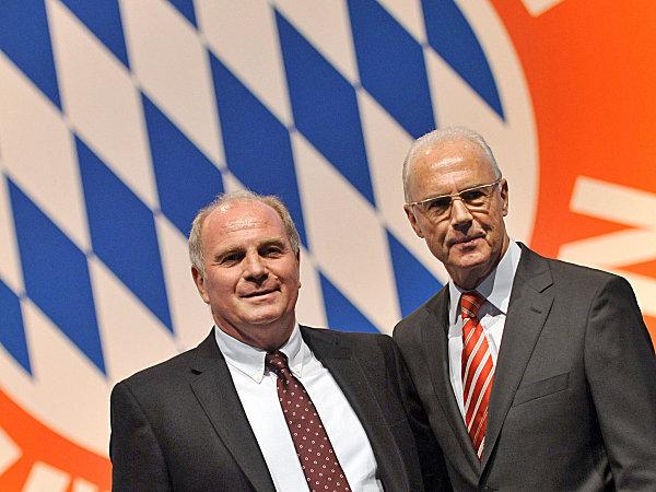 Der alte und der neue Präsident des FC Bayern München
