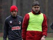 Der erste Eindruck nach den Weihnachtstagen war positiv: Kölns Trainer Zvonimir Soldo (r., mit Lukas Podolski).