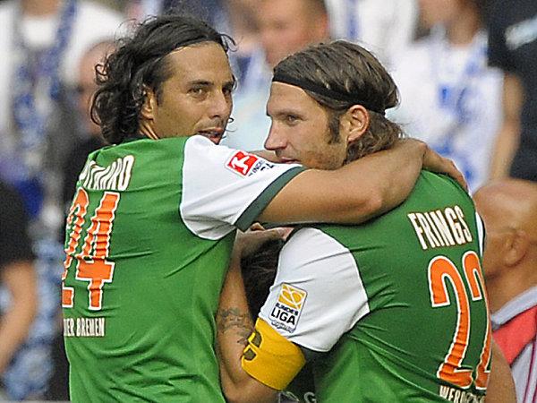 Claudio Pizarro und Torsten Frings