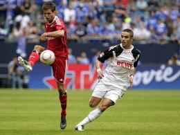 Diekmeier (HSV, li.) vs. Ionata (Köln)