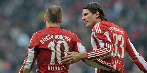 Mario Gomez und Arjen Robben