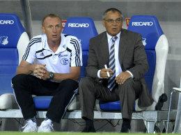 Seppo Eichkorn und Felix Magath: Der Co-Trainer soll seinen bisherigen Chef vorübergehend ersetzen.