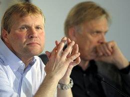 Frank Schaefer, Volker Finke (re.) - 1. FC Köln