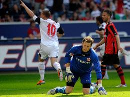 Sein Vertrag gilt nur für das Oberhaus: Ralf Fährmann (Eintracht Frankfurt) ist jedoch gesprächsbereit.