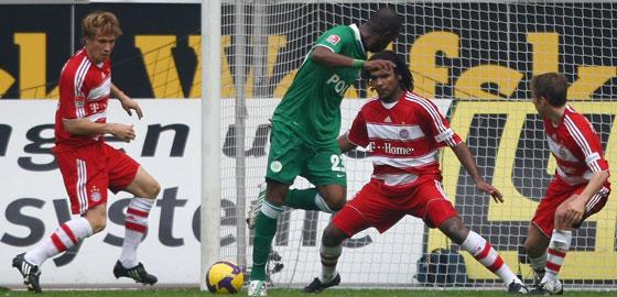 Grafite mit dem Zaubertor gegen den FC Bayern im Wolfsburger Meisterjahr.