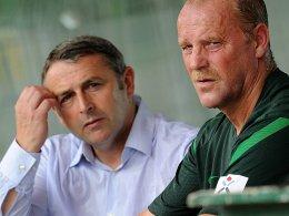 Klaus Allofs (li.), Thomas Schaaf - Werder Bremen