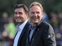 Sportdirektor Michael Zorc und Geschäftsführer Hans-Joachim Watzke