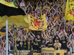 Dortmunder Fans in Sinsheim