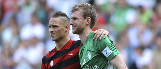Marco Arnautovic und Per Mertesacker.