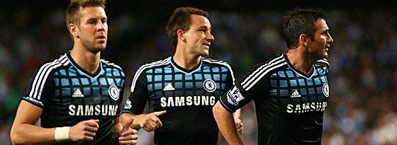 Slobodan Rajkovic, John Terry und Frank Lampard (v.l.) vom FC Chelsea