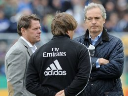 Frank Arnesen, Trainer Michael Oenning und der Vorstandsvorsitzende Carl-Edgar Jarchow