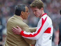 Felix Magath und Aliaksandr Hleb 2003 beim VfB Stuttgart.