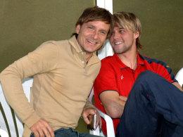Timo Hildebrand (r.) und Horst Heldt, hier 2006