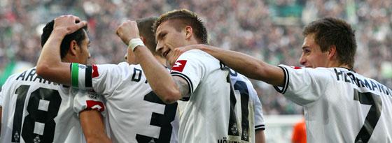 Die Gladbacher jubelten im Verfolgerduell gegen Bremen am laufenden Band.